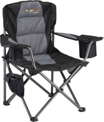 Oztrail Big Boy Camping Arm Chair With Cooler Bag 150kg