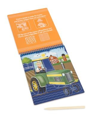 Melissa & Doug Scratch Art - Vehicles Colour-Reveal Pad: