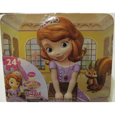 Disney Sofia The First Puzzle In Lunchbox Tin (24 Pieces):