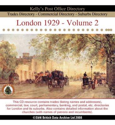 London 1929 Post Office Directory, v. 2 (CD-ROM):