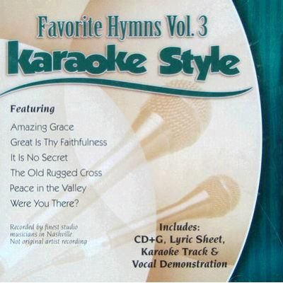 Favorite Hymns Karaoke Style, Volume 3 (CD): Various Artists