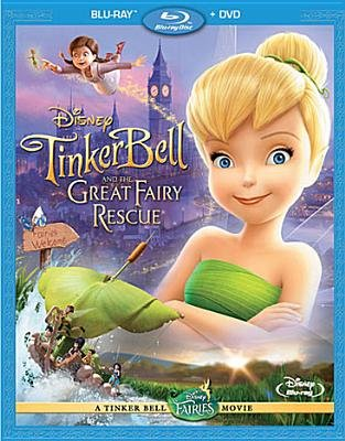 Tinker Bell and the Great Fairy Rescue (Region A Import Blu-ray disc, DVD Included): Mae Whitman, Lauren Mote, Michael Sheen