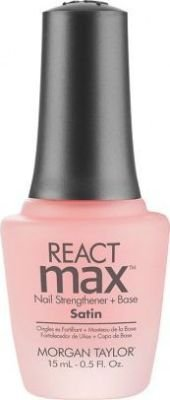 Morgan Taylor REACTmax Satin Nail Strengthener & Base (15ml):
