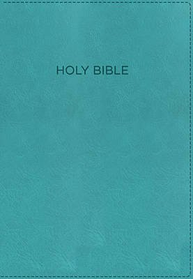 KJV, the Foundation Study Bible, Imitation Leather, Turquoise, Red Letter Edition (Leather / fine binding, Red Letter Edition):...