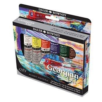 Daler Rowney Georgian Oil Paint - Starter Set - 22ml - Set Of 6: