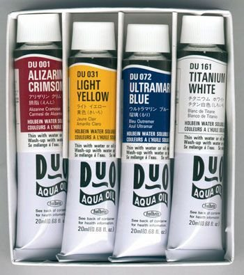 Holbein Duo-Aqua - Set of 4x 20ml Tubes: