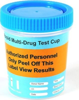 6 Panel Cup Drug Test with Blue Lid: