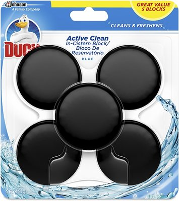 Duck Active Clean In The Cistern Toilet Block (Blue | 5 x 45g):