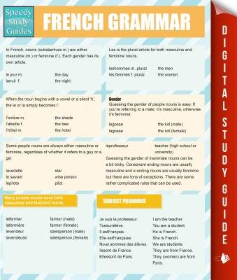French Grammar (Speedy Study Guides) (English, French, Electronic book text): Speedy Publishing LLC