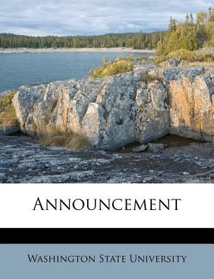 Announcement (Paperback): Washington State University