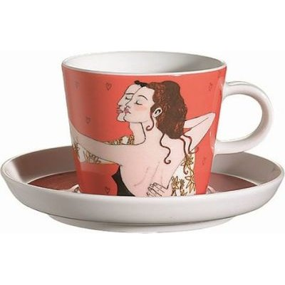 Arzberg Lovers Tango Cup and Saucer (Multicolour):