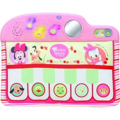 Soft Toys Disney Baby Minnie Mouse Sounds N Tunes Crib Piano For