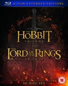 The Hobbit Trilogy/The Lord of the Rings Trilogy - 6-Film Extended Edition (Blu-ray disc): Martin Freeman, Ian McKellen, Cate...