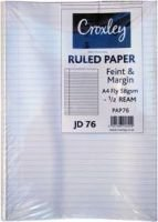 Croxley JD76 A4 Ruled Paper (58GSM)( ½ Ream):