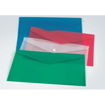 Bantex B3410 Polypropylene Envelopes (A4)(Cobalt Blue)(5 Pack):