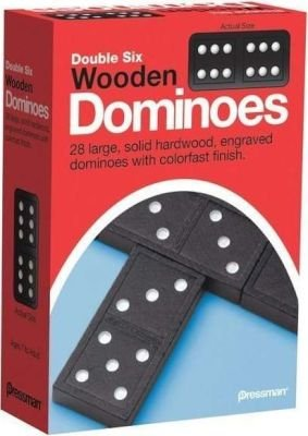 Double Six Wooden Dominoes: