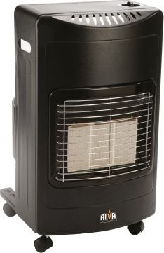 Alva 3 Panel Gas Heater (9 Kg) (Black):