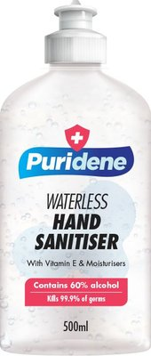 Puridene Waterless Hand Sanitizer (500ML):