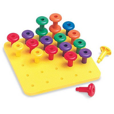 Jumbo Easy Grip(r) Pegs and Playpad Set (Toy): Ideal School Supply