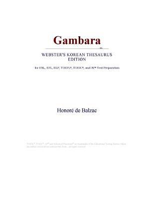 Gambara (Webster's Korean Thesaurus Edition) (Electronic book text): Inc. Icon Group International