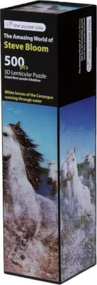 The Purple Cow Steve Bloom White Horses 3D Lenticular Puzzle (500 Piece):