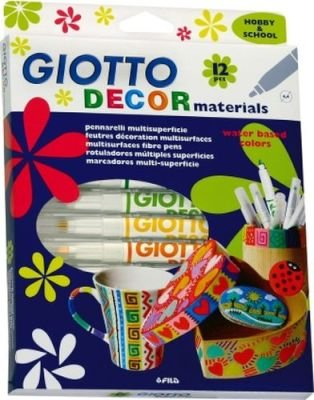 Giotto Decor Materials Multi-Surface Art Markers (12 Pieces) :