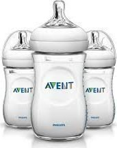 Philips AVENT Natural Feeding Bottle 260ml (Pack of 3) (1 Month+):