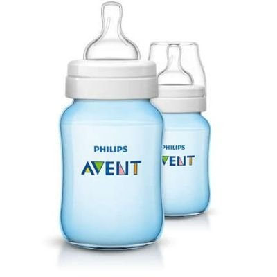 Philips AVENT Classic Plus Baby Bottle with Slow Flow Nipple Bottle Set 260 ml (Blue):