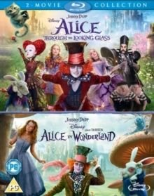 Alice in Wonderland/Alice Through the Looking Glass (English, German, Blu-ray disc): Johnny Depp, Mia Wasikowska, Helena Bonham...