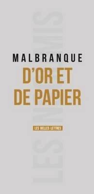 D'Or Et de Papier (French, Paperback): Benoit Malbranque