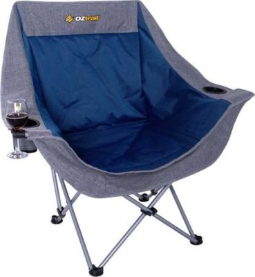 Oztrail Single Moon Camping Chair with Arms (120kg):