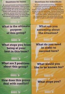 Coaching Word Cards: Cards specifically designed to instigate conversations between coach and teams and individuals. (Postcard...