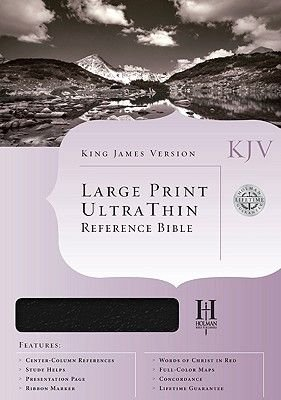 Bible Kjv U/Thin L/P Ref Black T/I (Large print, Book, large type edition): Bible