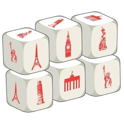Talking Dice: Countries and Nationalities - Pack of 6 (Game): Stephane Derone