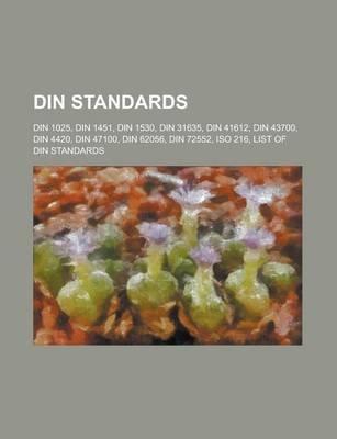 Din Standards - ISO 216, List ...