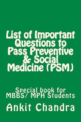 List of Important Questions to Pass Preventive & Social