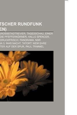 Norddeutscher Rundfunk (Fernsehen) - Sesamstrasse, Grossstadtrevier, Tagesschau, Einer Wird Gewinnen, Die Pfefferkorner, Hallo...