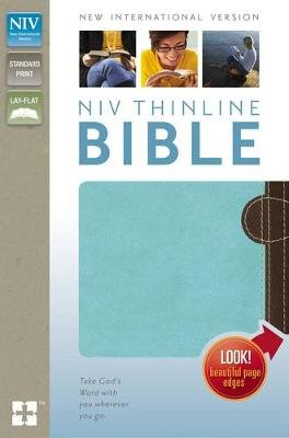 NIV, Thinline Bible, Imitation Leather, Tan/Brown (Leather / fine binding, Special edition): Zondervan