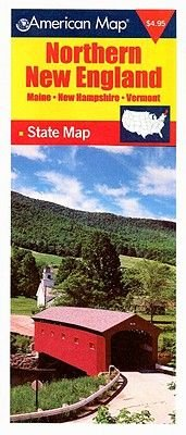 Northern New England State Map (Sheet map, folded): American Map Corporation