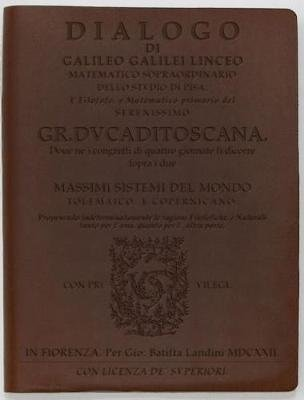 Dialogo by Galileo - Dark Brown (Leather / fine binding): Discovery Books LLC