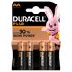 Duracell Plus Power AA Alkaline Batteries with Duralock (4 Pack):