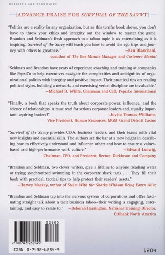 survival of the savvy highintegrity political tactics for career and company success