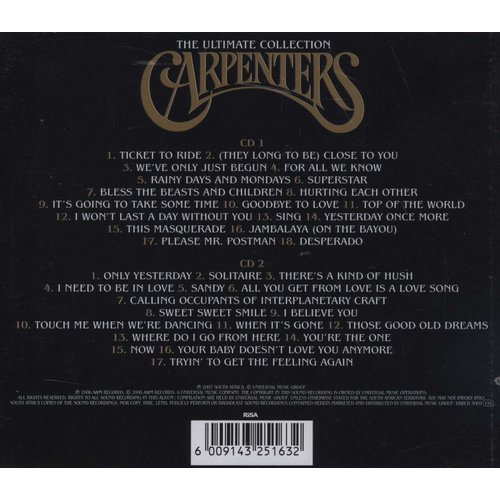 Carpenters Ultimate Collection: Carpenters - The Ultimate Collection (CD)