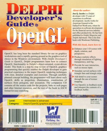 Delphi Developer's Guide to OpenGL (Paperback): Jon Q  Jacobs