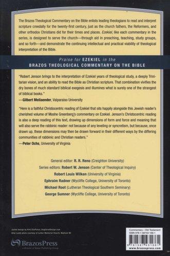 Ezekiel Hardcover Robert W Jenson 9781587431661 Books Buy