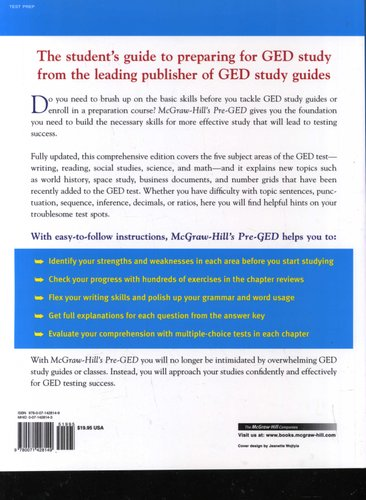 Mcgraw Hill S Pre Ged The Most Competent And Reliable Review Of