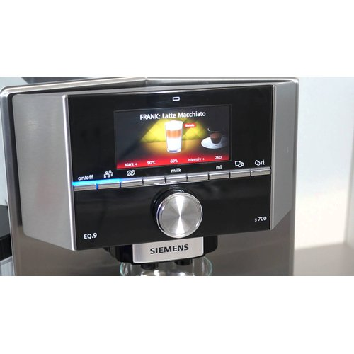 Siemens Fully Automatic Series 500 Eq9 Coffee Maker Stainless Steel