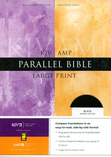 KJV / Amplified Parallel Bible (Large print, Leather / fine binding