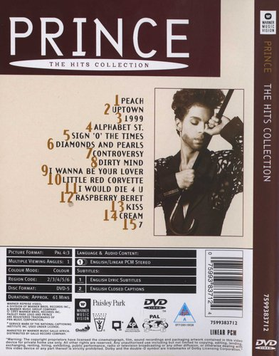 Prince - The Hits Collection (Region 1 Import DVD) | Music