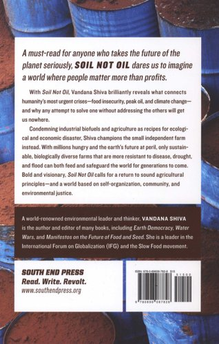 soil not oil shiva v andana